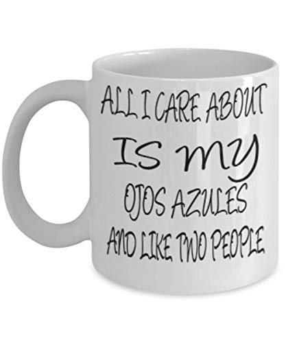Ojos Azules Gifts 11oz Coffee Mug - All I Care About - For Mom and Dad Cup for Coffee or Tea Cats Lover ak7720]()
