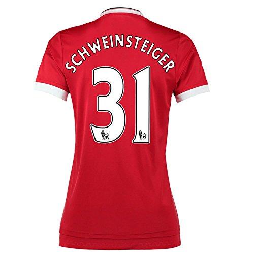ペリスコープ繊毛クレジットAdidas Schweinsteiger #31 Manchester United Home Soccer Jersey 2015 -WOMEN(Authentic name and number of player)/サッカーユニフォーム マンチェスター ユナイテッド FC ホーム用 シュヴァインシュタイガー 背番号31 2015 レディース向け