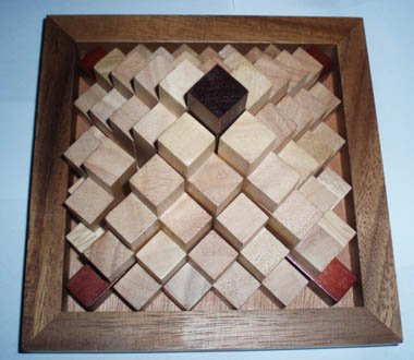 (Step Pyramid wood puzzle and brain teaser)