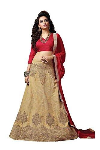 PCC Womens Silk Fabric Brown Pretty Circular Lehenga Style 84057