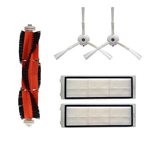 Cimaybo Accesorios para XIAOMI MI Robot Cepillo lateral de vacío 2pcs Filtro HEPA 2pcs Cepillo principal 1pcs