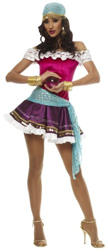 [Fortune Teller Costume - Medium - Dress Size 8-10] (Gypsy Costume Head Scarf)