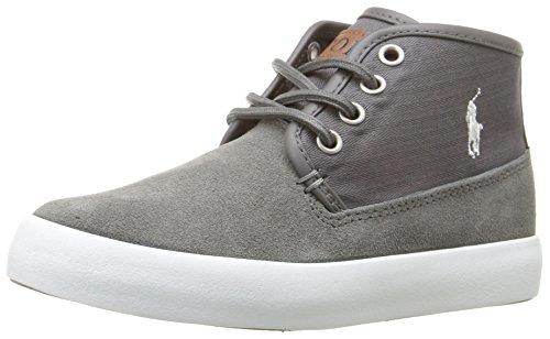 Polo Ralph Lauren Kids Kids' Waylon Mid Sneaker, Grey, 3 M US Little Kid