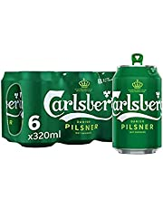 Carlsberg Green Label Can, 320ml, (Pack of 6)