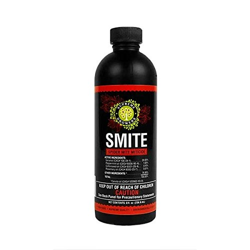 Mite Control Concentrate - Supreme Growers SMITE Spider Mite Killer, All Natural Pesticide Concentrate, Non-Toxic, Biodegradable, Organic Eco Friendly Pest Control (8oz Concentrate - Makes 8 Gallons)