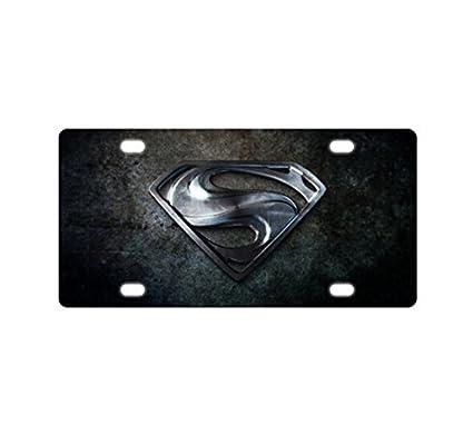Amazoncom Superman Logo Custom Metal License Plate For Car 126
