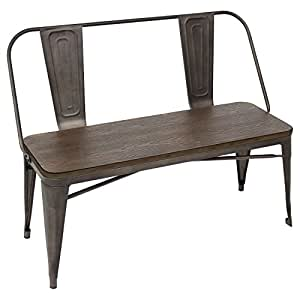 WOYBR DC-TW-OR BENCH Steel, Bamboo, Oregon Dining Bench
