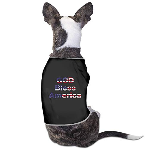 RSADGER Pet Clothing Logo God Bless America Printed T Shirts Dogs Summer Vest Puppy Pet Shirt