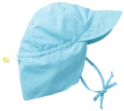 i play. Baby Flap Sun Protection Swim Hat, Aqua, 9-18 Months