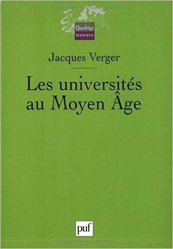 Livre gratuits en ligne Les universités au Moyen Age epub, pdf