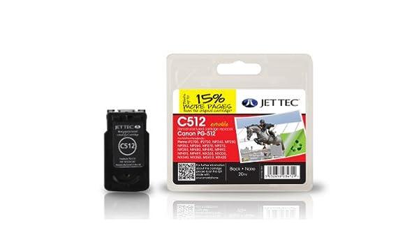 Jet Tec C512 cartucho de tinta Negro 1 pieza(s) - Cartucho ...