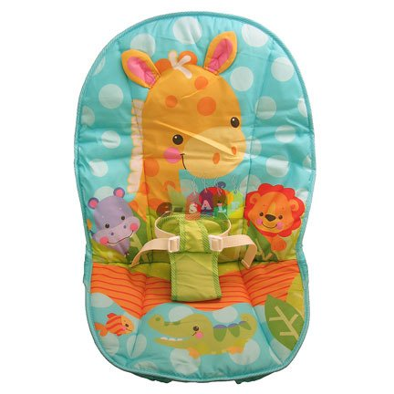 Fisher Price Baby Bouncer Replacement Pad (T1454 PRECIOUS PLANETS HAPPY GIRAFFE PAD)