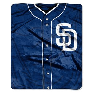 MLB San Diego Padres Jersey Plush Raschel Throw, 50
