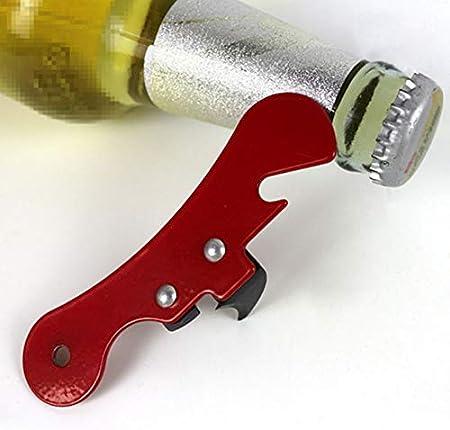 Haplws Abrebotellas multifunción Sacacorchos Abridor de Vino Simple Parrot Sacacorchos de Hierro Vino Tinto Botella de Cerveza Abrelatas 2 Piezas