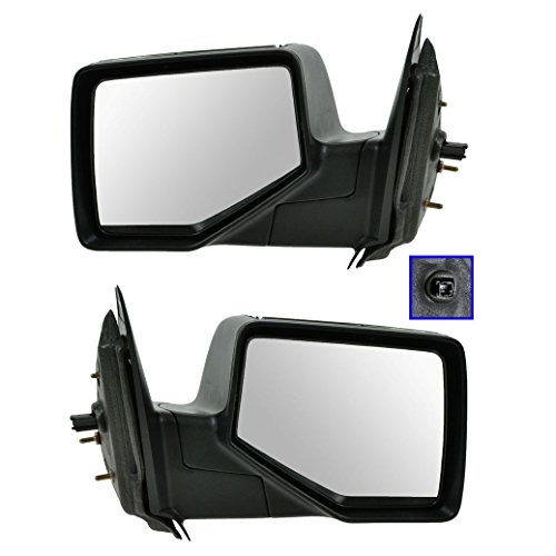 Chrome Back Folding Power Mirrors Pair Set for 06-11 Ford Ranger Pickup Truck