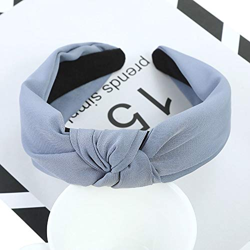 Women's Sports Hairbands Cross Knot Headbands Turban Headwear For Women Hairband Elastic Headbands Hair Accessories,Light ()