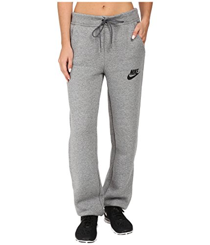 NIKE Womens Fleece Elastic Ankle Sweat Pants Gray M