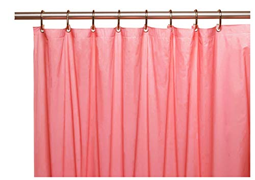 Grommet Rose (Venice Elegant Home Heavy Duty Vinyl Shower Curtain Liner with 12 Metal Grommets Dusty Rose)