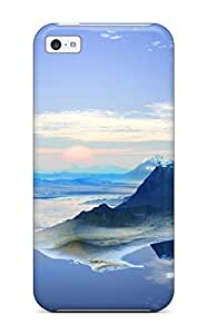 Iphone Case - Tpu Case Protective For Iphone 5c- 3d Panoramic Landscape 5556514K59073453