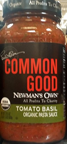 Newman's Own Common Good Tomato Basil Organic Pasta Sauce 23.5 Oz (Pack of 2) ()
