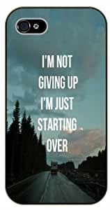 For SamSung Galaxy S5 Mini Case Cover I'm not giving up. I'm just starting over - Black plastic case / Inspirational and motivational life quotes / AUTHENTIC