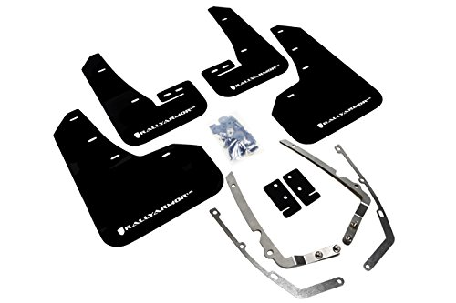 Rally Armor 2015+ VW Golf/GTI/TSI UR Black Mud Flap w/ White Logo
