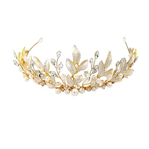 Bridal Tiara Headpiece Hair Vine Jewelry Crystals Pearl Headband Wedding Party Evening Hair Accessories ()