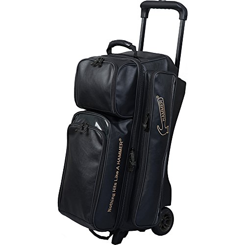 Hammer Bowling Products Force Triple Roller Bowling Bag- - Ball Hammer Bowling Bag 3