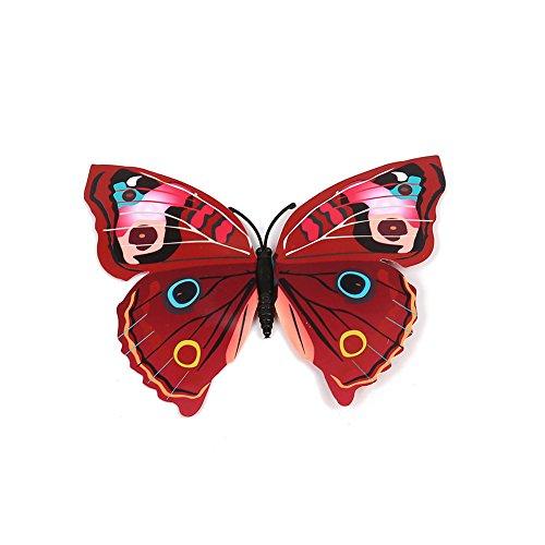 12 Unids 3D Mariposa Pegatinas de Pared Arte Decal Home Room Decoraciones Decoración Niños, con Cinta Adhesiva de Doble...