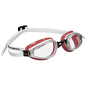 MP Michael Phelps K180 Ladies Goggles (Clear Lens), White/Coral