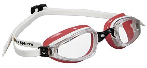 MP Michael Phelps K180 Swimming Clear - Gafas de natación, color rojo