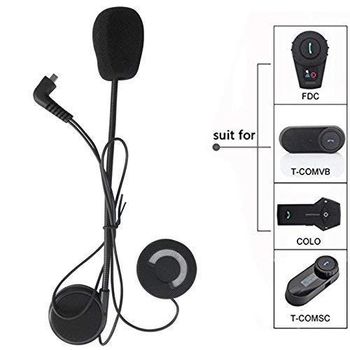 FreedConn Micró fono Auricular Altavoz Auricular Cable Accesorio Auricular para Casco de Moto Interfono Bluetooth intercomunicador para TCOM FDCVB y Colo TCOM FDC COLO