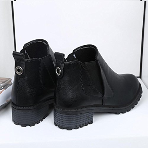 Low Ankle TM Fashion Boots Autumn Womens Winter Shoes Boots Heels Winter DEESEE Black Boots dXx4fXt