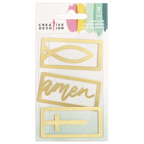 American Crafts 3 Piece Gold Metal Thin Clip Creative Devoti