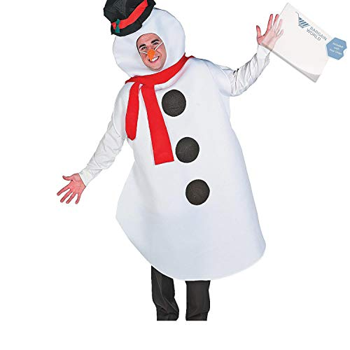 (Adult's Large Snowman Costume (With Sticky Notes))