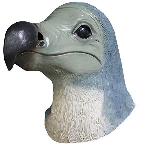 Animal Latex Bird Head Mask Pigeon Dodo Mask Novelty Halloween Costume Accessory]()