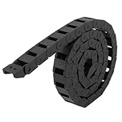 uxcell Black Plastic Drag Chain Cable Ca...