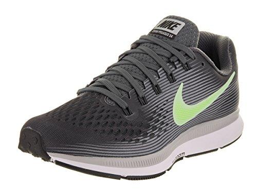 NIKE Women's Air Zoom Pegasus 34 Running Shoe Dark Grey/Barely Volt/Wolf Grey Size 9 M US