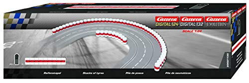Carrera 21130 Tire Stacks Guardrail Wall for Digital 124/132/Evolution Slot Car Tracks Realistic Scenery Add On Parts Accessory from Carrera