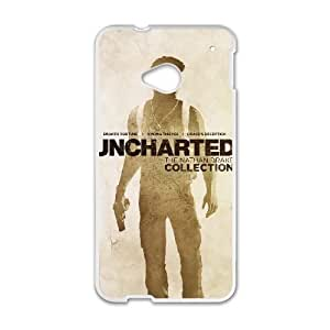 Protective TPU cover case uncharted the nathan drake collection HTC One M7 Cell Phone Case White