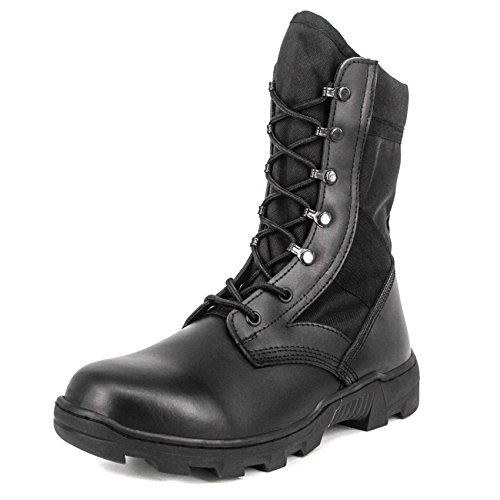 nch Military Jungle Boots Lightweight Speedlace Tactical Combat Shoes, Black (8 D(M) US) (Military Jungle Boots)