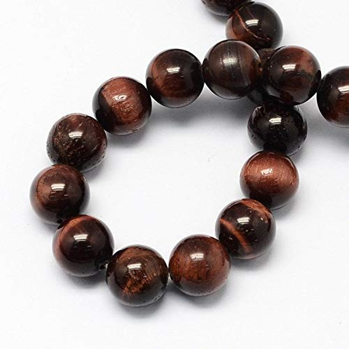 Tiger Eye Beads in a Dark Rich Coffee Color 8mm (1/4