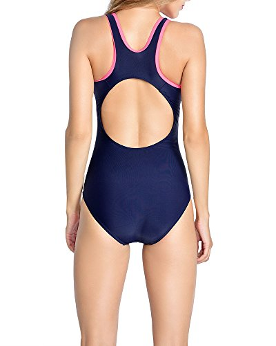 beb284a34764 Uhnice Womens Athletic One Piece Swimsuits Racing Training Sports Bathing  Suit