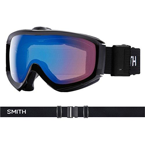 (Smith Optics Prophecy Turbo Fan - Asian Fit Adult Snow Goggles - Black/Chromapop Storm Rose Flash/One Size)