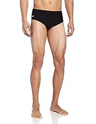 Speedo Men\'s Endurance+ Solid Brief Swimsuit, Black, 38