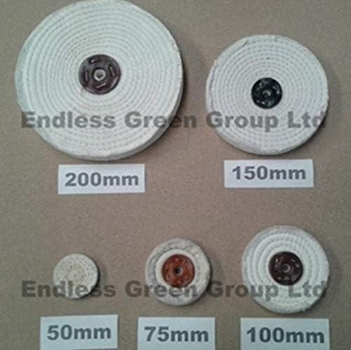 100mm x 15mm Approx S100//1 Bolpol 4 inch x 5//8 SISAL Buffing Wheel//Polishing Mop