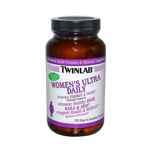 Twinlab Женская Ультра Daily Multi-Vitamin и минеральные добавки 120 капсул
