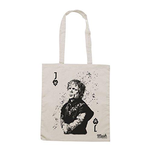 Borsa Tyrion Lannister Jack Poker Card - Panna - Film by Mush Dress Your Style Venta De Primera Calidad Barato Venta De Bienes Más Barato ouG9Xomut