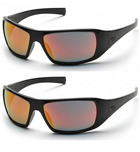 ty Eyewear (Ice Orange Mirror Lens/Black Frame SB5645D) (2 Pair) ()