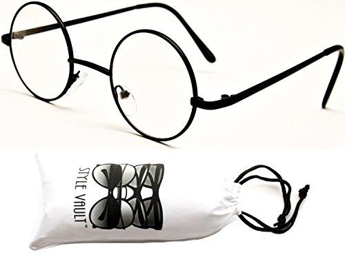 V106-vp Tiny Small Lens Round Metal Sunglasses (S2942V Black-Clear, - Round Tiny Sunglasses
